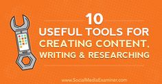 10 Useful Tools for Creating Content, Writing, and Researching https://www.socialmediaexaminer.com/10-tools-creating-content-writing-researching?utm_source=rss&utm_medium=Friendly Connect&utm_campaign=RSS @smexaminer