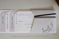 Unique wedding invitation
