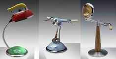 Image result for desk lamp made of motorcycle reflector
