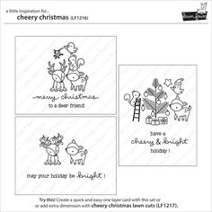 cheery Christmas Lawn Fawn card ideas