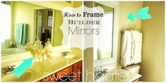 How to Frame Builder Mirrors