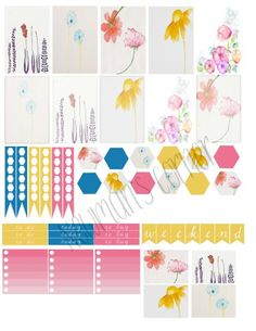 FREE Floral Watercolor Stickers BY Newman's Corner