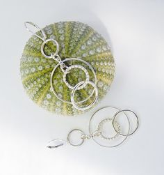 Silver Circle Earrings . Lightweight by MalibuJewel on Etsy, $72.00