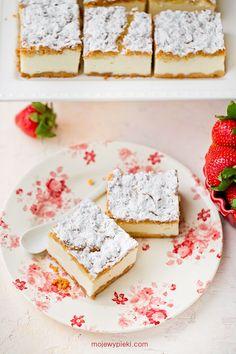 Sernik Biały Puch | Moje Wypieki Creme Brulee, Cheesecake, Sweets, Bread, Baking, Food, Cakes, Food Cakes, Good Stocking Stuffers