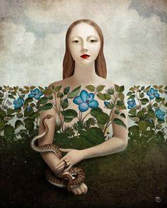 Eva and the Garden  Christian Schloe é um artista austríaco que vem se destacando com um trabalho que mescla ilustração digital e fotografia.