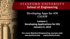 """Stanford University Swift Language Course   """"Paul Hegarty provides an overview of the series and iOS. In this offering, you will learn how to build cool apps and do real-life Object-Oriented Programming.""""   Topics Include: iOS 8 Overview, Model-View-Controller, Core OS, Core Services, Media, Cocoa Touch, Platform Components, Tools, Language(s), Frameworks, Design Strategy"""