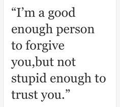 I'm good enough person