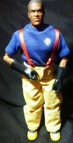 "Hasbro 12"" GI Joe Emergency Crash Rescue African American Figure FD Fireman #Hasbro"