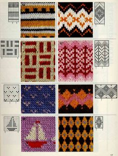 Jacquard does not happen much - for beads, knitting, weaving and dot painting. Discussion on LiveInternet - Russian Service Online Diaries Fair Isle Knitting Patterns, Fair Isle Pattern, Knitting Charts, Knitting Stitches, Knitting Socks, Knitting Designs, Knit Patterns, Beading Patterns, Crochet Books