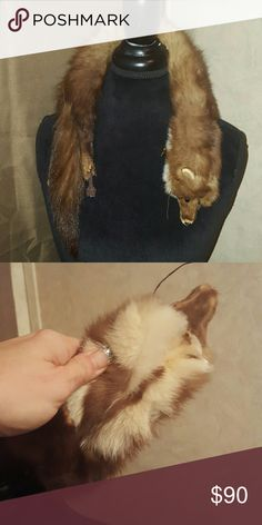 """Real Mink Vintage Stole Absolutely stunning. Amazing condition.  29"""" long. Accessories Scarves & Wraps"""