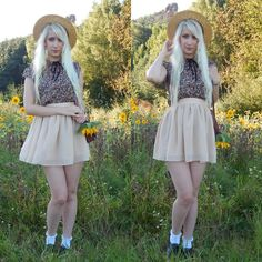 Get this look: http://lb.nu/look/8356129  More looks by Lea Brande: http://lb.nu/lea_brande  Items in this look:  Ebay Skirt   #summertime #fashion #hat #vintage #girly