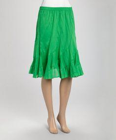 Look at this #zulilyfind! Kelly Green Short Swirl Skirt #zulilyfinds