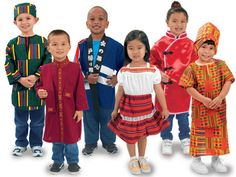 """I would LOVE to have these multicultural costumes, as we have a month long """"Around the World"""" thematic unit.  My students love to dress up and role play, and this wold be a fantastic addition to my classroom."""