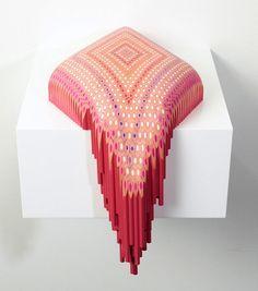 Pencil Sculptures by Lionel Bawden