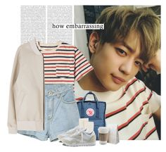 """Minho: how embarrassing"" by yxing ❤ liked on Polyvore featuring Oris, J.Crew, Fjällräven, Johnstons of Elgin, Reebok, kpop, shinee and minho"