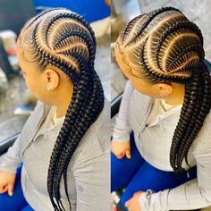Braided Cornrow Hairstyles, Cornrow Braid Styles, Toddler Braided Hairstyles, African Braids Styles, Feed In Braids Hairstyles, African Hairstyles, Hairstyles Videos, Cornrows, Natural Hair Braids