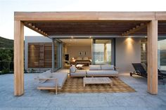 The wooden pergola is a good solution to add beauty to your garden. If you are not ready to spend thousands of dollars for building a cozy pergola then you may devise new strategies of trying out something different so that you can re Interior Exterior, Exterior Design, Interior Architecture, Design Jardin, Terrace Design, Indoor Outdoor Living, Outdoor Rooms, Contemporary Beach House, Gazebos