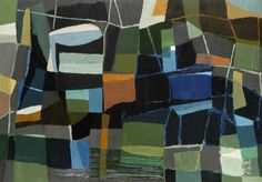 Abstract painting by Grace Crowley, oil on cardboard, Art Gallery of Western Australia, 1953