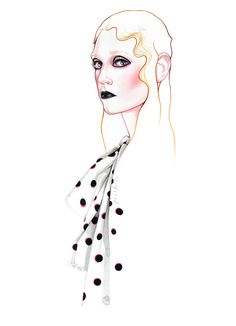 Marc Jacobs Fall Winter fashion illustration by António Soares