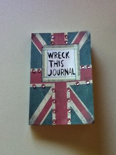 four-lads-and-a-leprechaun:    This is the cover of my wreck this journal, I'm actually really happy with it!