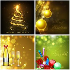 Festive Christmas backgrounds vector