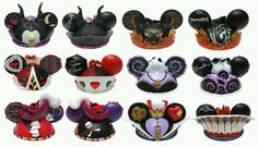 Disney Villian Mickey hat ornaments...want