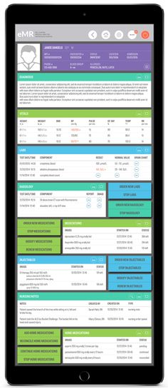 A Patient Chart is the heart of an eMR. This patient chart, for a concept eMR, would be treat to the medical providers. It is visually appealing with great user experience. A user would like to keep going back to it again and again.