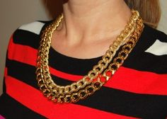 Layered, Chain Necklace Tutorial.  Must try this!!!