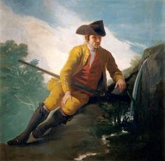 """goya francisco prt of cazador al lado de una fuente (from <a href=""""http://www.oldpainters.org/picture.php?/26499/category/10346""""></a>)"""