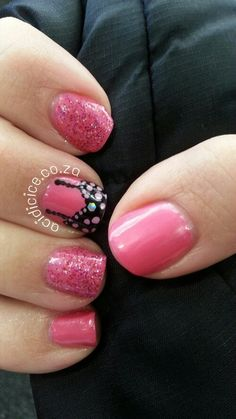Breast Cancer Awareness (I like the middle nail design. Manicure Ideas, Nail Tips, Nail Ideas, Nail Polish Designs, Cute Nail Designs, Hair And Nails, My Nails, Breast Cancer Nails, Pink Power