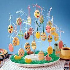 Sweet Easter Tree Easter Cookie Recipes, Easter Cookies, Sugar Cookies, Tree Cookies, Mini Cookies, Baby Cookies, Flower Cookies, Heart Cookies, Valentine Cookies