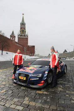 World premiere on Red Square Audi A5 DTM in Moscow