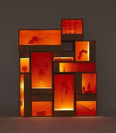 Orange Exhibition Display Visual Light Installation Sculpture Art Sculptures Furniture