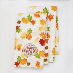 """Celebrate+Fall+Together+""""Happy+Fall""""+Kitchen+Towel+2-pk."""
