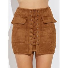 Pair our faux suede laced up Chesnut Mini skirt with thigh high heels! Skirt Outfits, Cute Outfits, Mini Skirt Style, Boho Fashion, Fashion Outfits, Suede Mini Skirt, Mode Hijab, Skirts With Pockets, Short Skirts