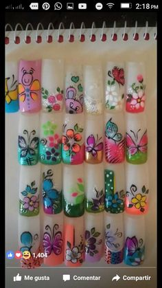 Diseños Fancy Nails, Trendy Nails, Airbrush Nails, Animal Nail Art, New Nail Designs, Seasonal Nails, French Tip Nails, Flower Nail Art, Fabulous Nails