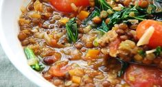 Curried Lentils with Coconut Milk and Vegetables - A Vegan Blogging Extravaganza at The Flaming Vegan