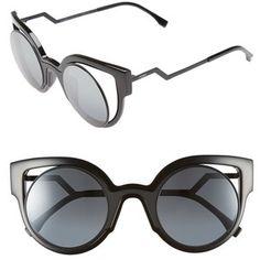 Fendi 'Orchidea' 49mm Cat Eye Sunglasses