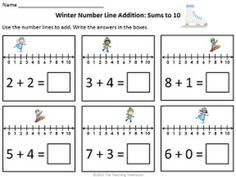 math worksheet : using a number line to add and subtract freebiecould use this  : Number Line Subtraction Worksheets 1st Grade