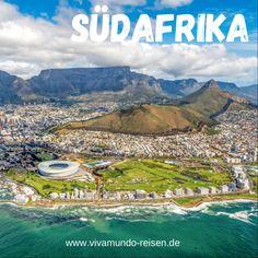 """Südafrika ist eines der abwechslungsreichsten Länder im südlichen Afrika. Die Bandbreite reicht von modernen Metropolen wie Kapstadt und Johannesburg über die hervorragenden Weingüter bis hin zu unzähligen Naturschutzgebieten und endlos langen Stränden. Der Slogan: """"Südafrika – die ganze Welt in einem Land"""" hat absolut seine Berechtigung. Wandern, Golfen oder die """"Big Five"""" bewundern, aktiv oder relaxed reisen, alles ist möglich. Lust auf Südafrika? Unsere Reisen findest Du auf unserer… Livingstone, Port Elizabeth, Pretoria, Safari, Aktiv, Golf Courses, Mountains, Nature, Travel"""