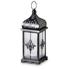 2 Pack of Filigree Solar Lanterns! Elegant way to light up your deck or patio.