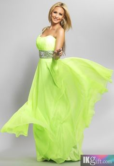 Sheath One Shoulder Chiffon with Beading and Sequins Prom Dress - Prom Dresses - Wedding & Events