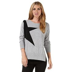 62bad0dff Danielle Lloyd flashes pearly whites as she rocks a star-print sweater. Savannah  MillerDanielle ...