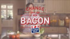 Bacon is powerful and life-changing, according to Canadian packaged food company Maple Leaf Foods and Toronto-based ad agency John St. English Bacon, Marketing Articles, Media Marketing, Bacon Mac And Cheese, Canadian Bacon, Food Bank, I Want To Eat, Advertising Campaign, You Changed