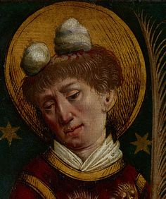 Saint Stephen from the Trinity triptych, Workshop of Peter von Andlau, 1479, Getty Museum