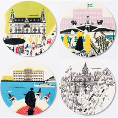 Best of Stockholm Coasters via Olle Eksell - WELCOME TO THE OFFICIAL WEBSHOP OF THE LEGENDARY SWEDISH DESIGNER OLLE EKSELL (1918-2007). Click on the image to see more!