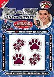 Temporary Tattoos - Mississippi State {16 Pack} by fan-a-peel. $5.99. * Safe and gentle on skin. * Made from 3m Brand Medical Tape. * Long Lasting. * Water resistant. * No hassle application. Easy to apply on Game Day:     Peel tattoo from backing,       Apply to clean surface,         ...To remove - simply peel away !