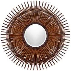 Sunburst - bamboo mirror
