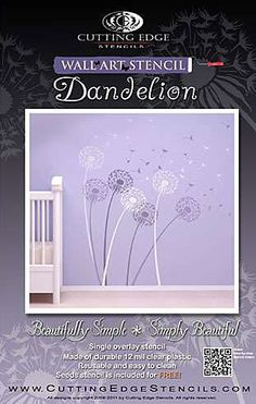Cutting Edge Stencils - Dandelion Stencil-  This would be so cute in a nursery in pastels