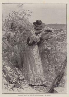 A Mafeking Amazon, Mrs Davies, the Lady Sharpshooter, in the Trenches… History Images, British Colonial, African History, Military History, Historical Photos, Digital Image, Trench, Statue, Amazon